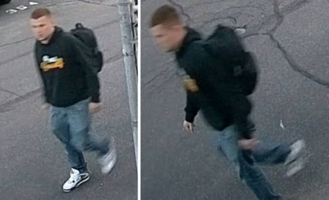 Police are on the lookout for a man suspected of stealing a backpack containing keys, electronics, medications, a laptop and other items from an unlocked 2006 Acura that was parked in a lot on Main Street in Patchogue on Thursday, June 13.