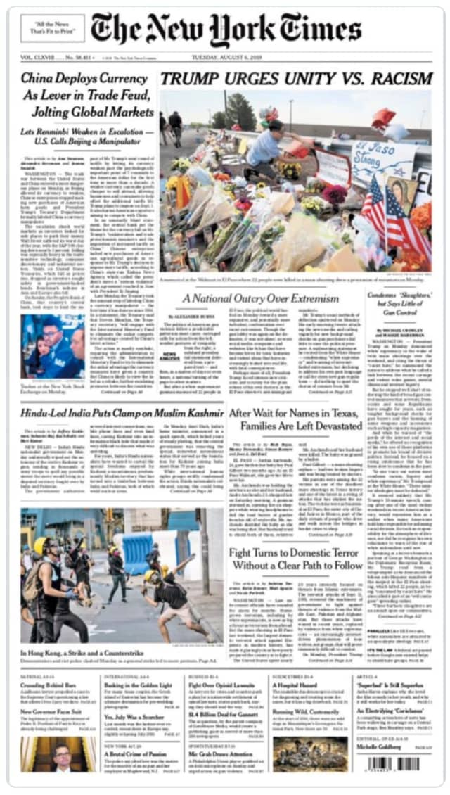 Congresswoman Alexandria Ocasio-Cortez and Sen. Kirsten Gillibrand blasted the New York Times for a headline about Trump's latest White House address.