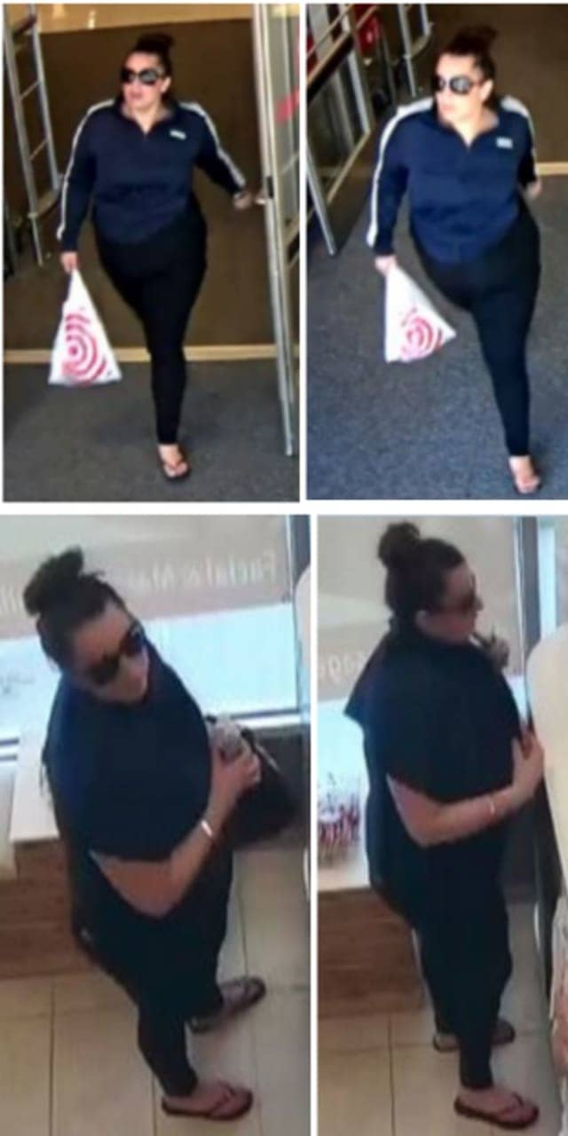 Police say a woman stole a wallet containing credit cards from a locker at LA Fitness (68 Veterans Memorial Parkway) on Thursday, July 18 around 9 a.m. and used the stolen credit cards at nearby stores including Target, DICK'S Sporting Goods and Coco