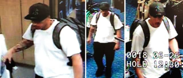 Police are on the lookout for a man suspected of stealing Timberland Pro boots and assorted clothing from JCPenney (4 Smith Haven Mall) on Wednesday, June 26 around 12:45 p.m.