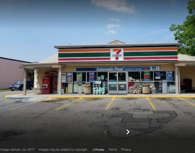 A man was arrested for allegedly robbing a 7-Eleven in Holbrook Monday morning, Aug. 11, according to police.