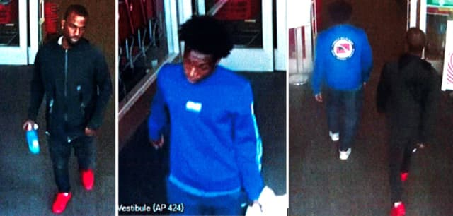 Police say two men used a stolen credit card to purchase merchandise at Target (124 East Jericho Turnpike).