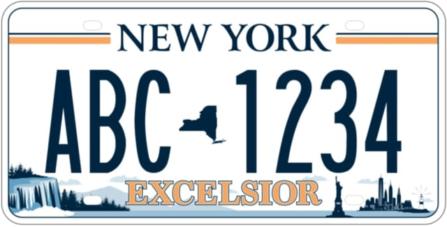 The design showing images throughout New York has been selected as New York's new license plate.