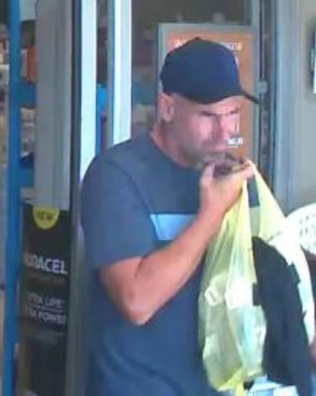 Police in Suffolk County are attempting to track down a man who allegedly stole from a Rite Aid in Suffolk County.