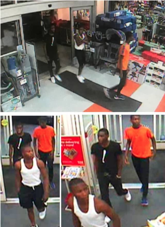 Police are on the lookout for three males suspected of stealing Nike shorts from Dick's Sporting Goods (6070 Jericho Turnpike) on Saturday, July 13 around 9:10 a.m.
