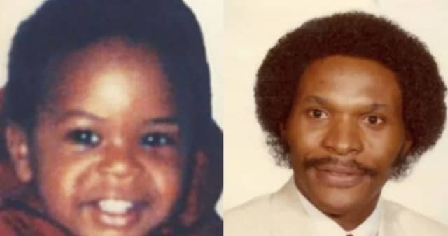Jermaine Allan Mann (left) as a child and Allan Mann Jr. in a dated image (R) in a dated image.