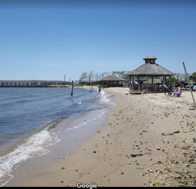 Islip Beach is one of eight beaches closed to swimmers due to excess bacteria in Suffolk County.