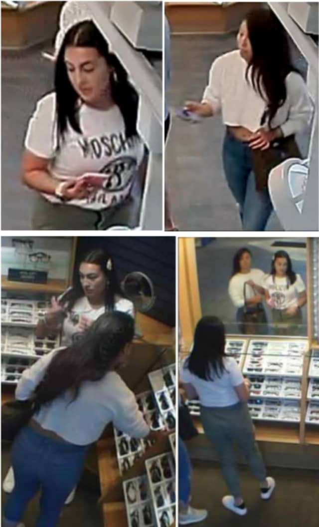 Police are on the lookout for two women suspected of stealing nine pairs of sunglasses from LensCrafters (3270 Middle Country Road) on Tuesday, July 2 around 1:35 p.m.