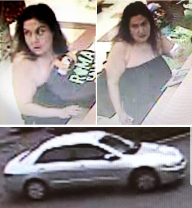 Police are on the lookout for a woman suspected of stealing a pocketbook from a shopping cart at Stop & Shop (365 Route 109) on Friday, Aug. 2 around 12:15 p.m.