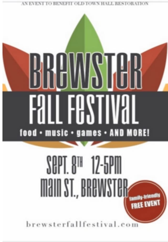 The 28th Annual Brewster Fall Festival, scheduled for Sunday, Sept. 8, features a variety of food and merchandise vendors, live music, games, activities and more.