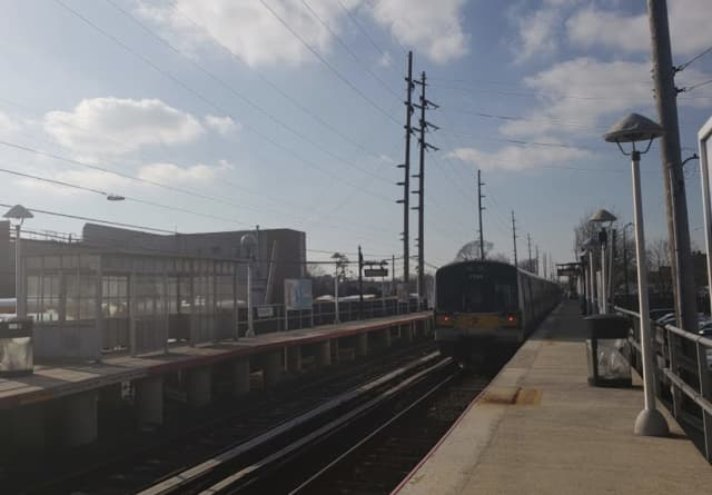 A person was hit and killed by a train at Hewlett Station.