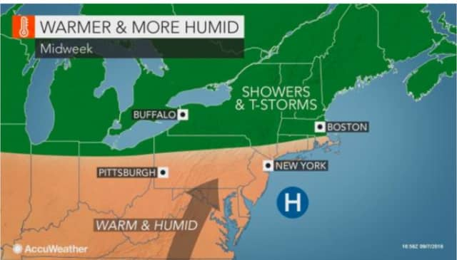 A look at the warm and humid weather pattern.