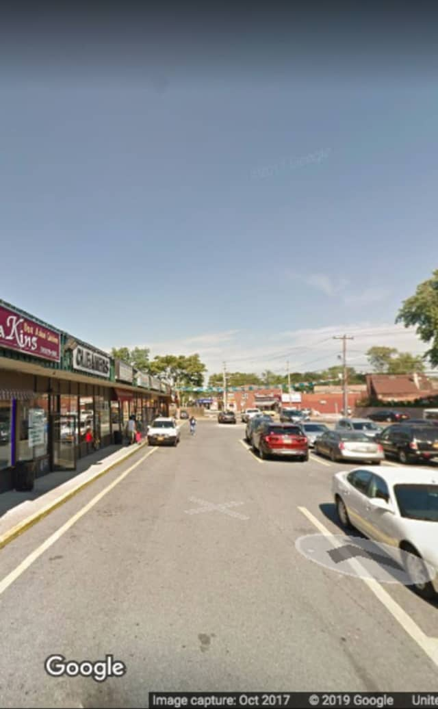 The strip mall where the stabbing occurred.