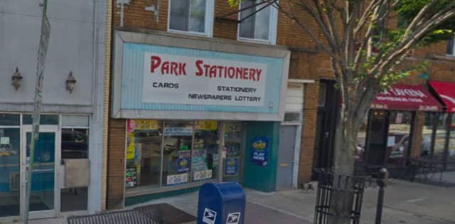 The ticket was sold at Park Stationery in Ridgefield Park.