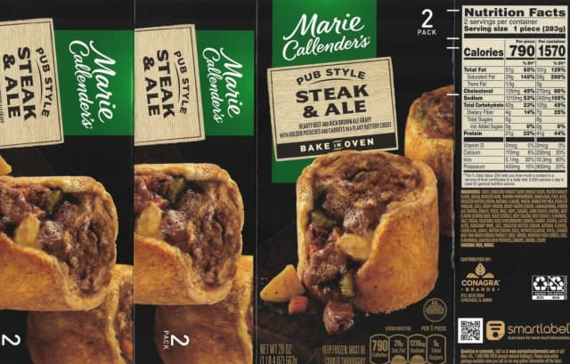 Thousands of pounds of Marie Callender's products have been recalled due to misbranding.