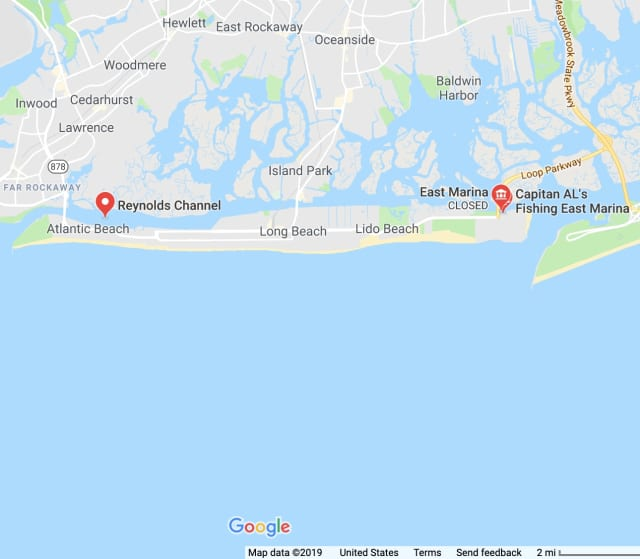 The water rescue occurred at Reynold's Channel in East Marina.