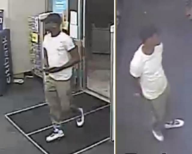 Police are on the lookout for a man, pictured above, who is suspected of stealing credit/debit cards and purchasing items at used to make purchases at Walgreens in Deer Park (1770 Deer Park Avenue) on Wednesday, July 10.
