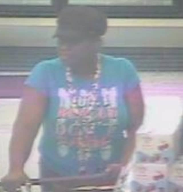 Police are on the lookout for a woman suspected of stealing food from Stop & Shop in Commack (1730 Veterans Memorial Highway) on Saturday, Aug. 31 around 7:20 p.m.