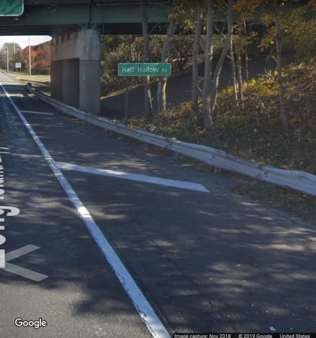 The eastbound Long Island Expressway at Half Hollow Road in Melville.