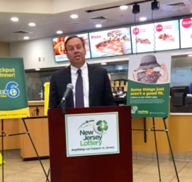 Acting NJ Lottery Director Jim Carey at the Pilot Travel Center in Newark.