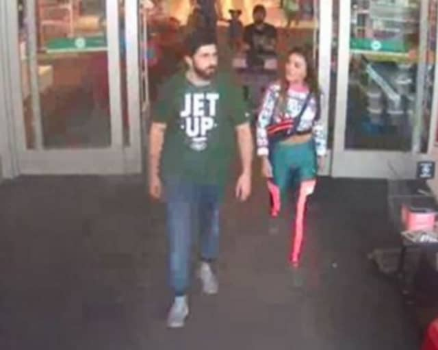 Police are on the lookout for a man and woman suspected of stealing JBL headphones from Target in Huntington Station (124 E. Jericho Turnpike) on Sunday, Sept. 22 around 5:20 p.m.