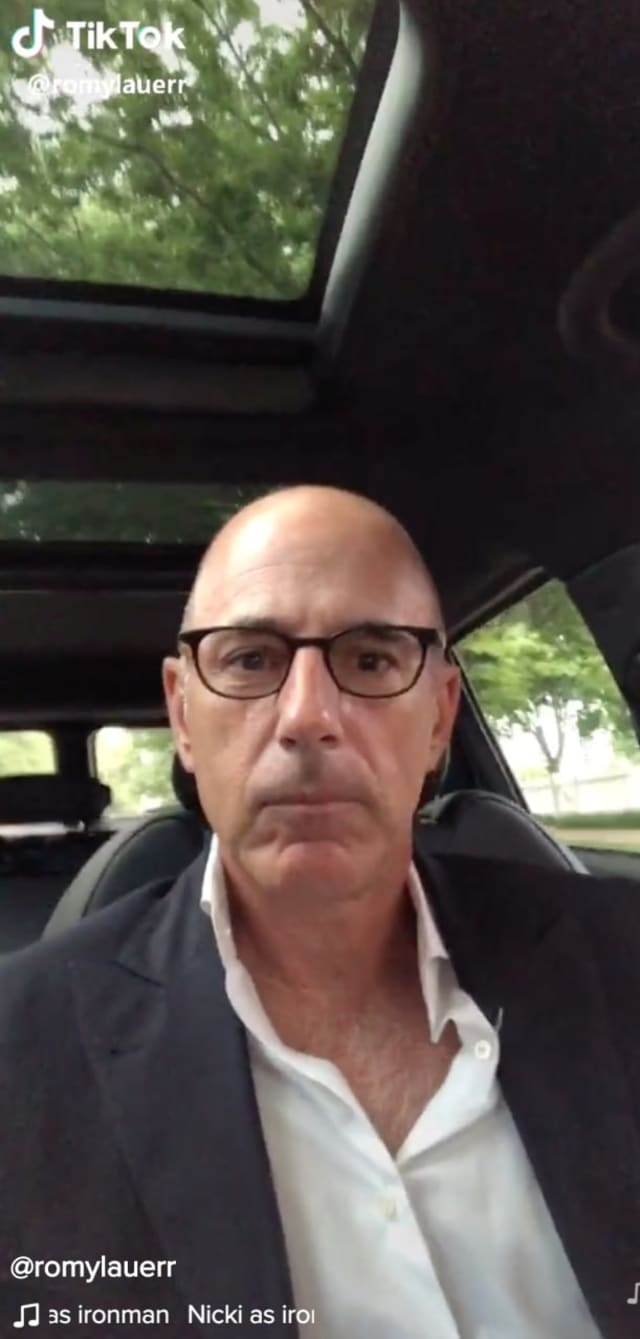 Matt Lauer was back on social media.
