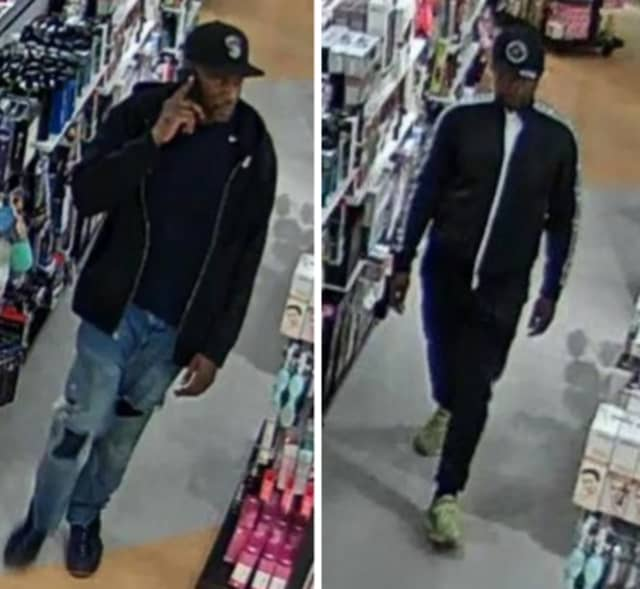 Police are on the lookout for two men suspected of stealing approximately $1,265 worth of clothing from Macy's at the Smith Haven Mall on Tuesday, Sept. 24.