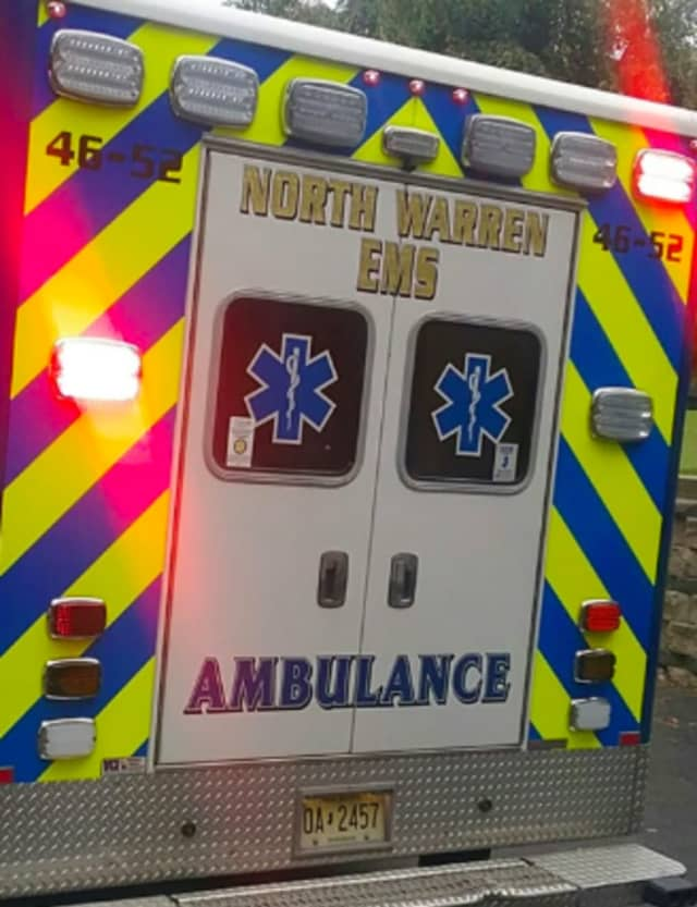 Blairstown Ambulance Corps transported the patient to a hospital.
