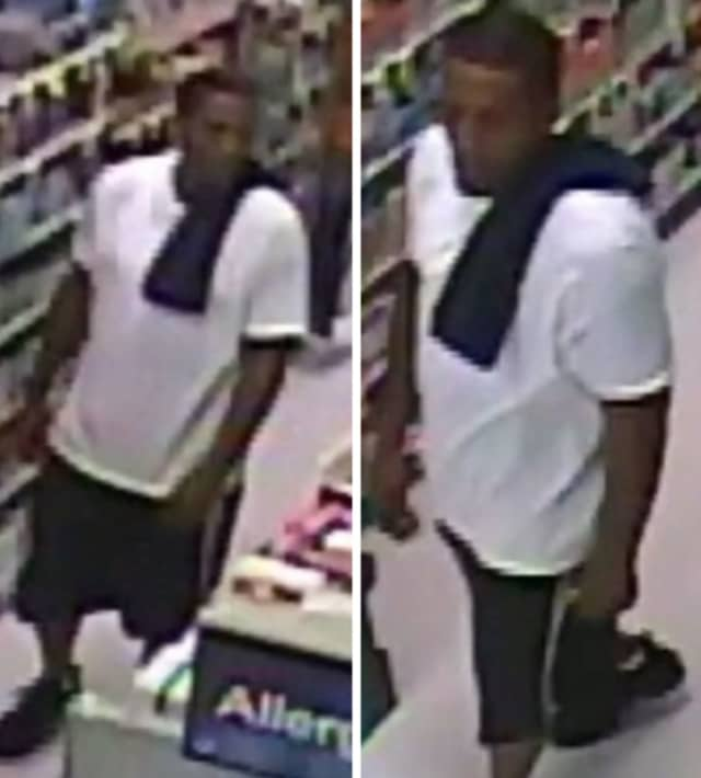 Police are on the lookout for a man suspected of stealing $800 worth of Sudafed from Rite Aid in Shirley (809 Montauk Highway) on Friday, Aug. 9 around 3 p.m.