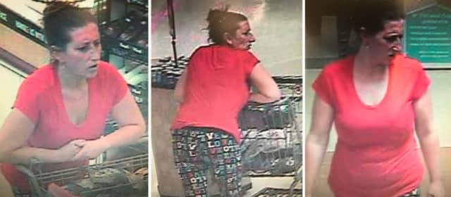 Police are on the lookout for a woman suspected of stealing $375 worth of seafood from Stop & Shop in Coram (294 Middle Country Road) on Wednesday, July 31 around 12:20 p.m.