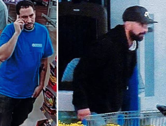 Police are on the lookout for two men suspected of trying to steal a 58-inch Hisense Roku television and other merchandise from Walmart in Commack (85 Crooked Hill Road) on Wednesday, Oct. 2 around 9:30 p.m.