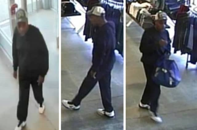 Police are on the lookout for a man suspected of stealing clothing valued at approximately $295 from Old Navy in Bay Shore (880 Sunrise Highway) on Sunday, Oct. 6 around 2:25 p.m.
