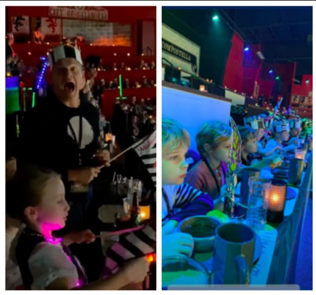 Neil Patrick Harris and husband David Burtka celebrated their son Gideon's birthday with his twin sister Harper and friends at Medieval Times in Lyndhurst.