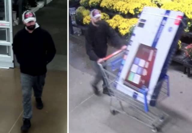 Police are on the lookout for a man suspected of stealing a 55-inch television worth $300 from Walmart in Commack (85 Crooked Hill Road) on Monday, Oct. 7 around 8 p.m.