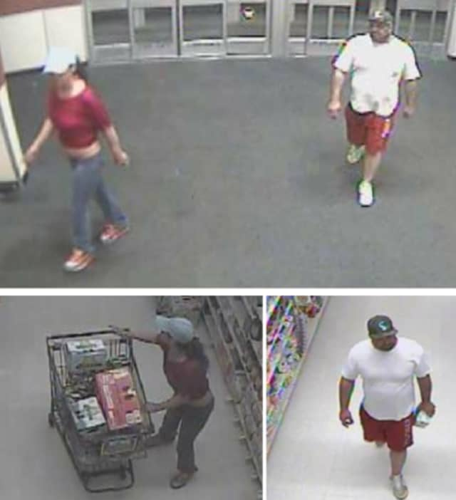 Police are on the lookout for a man and woman suspected of stealing items valued at $495 from Stop & Shop in Islandia (1730 Veterans Memorial Highway) on Friday, June 28 around 10:15 p.m.