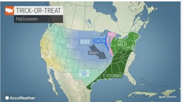 Look for a wet weather pattern this week, including on Halloween.