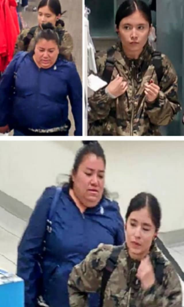 Police are on the lookout for two women suspected of stealing assorted clothing and perfume worth $290 from Kohl's in Commack (45 Crooked Hill Road) on Sunday, Oct. 20 around 5 p.m.