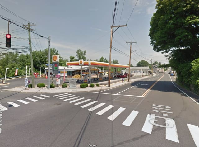 The Shell gas station on Main Street in Ansonia, where the clerk was stabbed.
