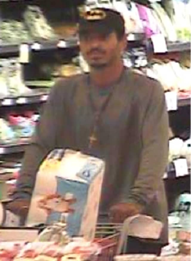 Police are on the lookout for a man stealing assorted cleaning merchandise from Stop & Shop in Islandia (1730 Veterans Memorial Highway) on Thursday, Oct. 24 around 3 p.m.