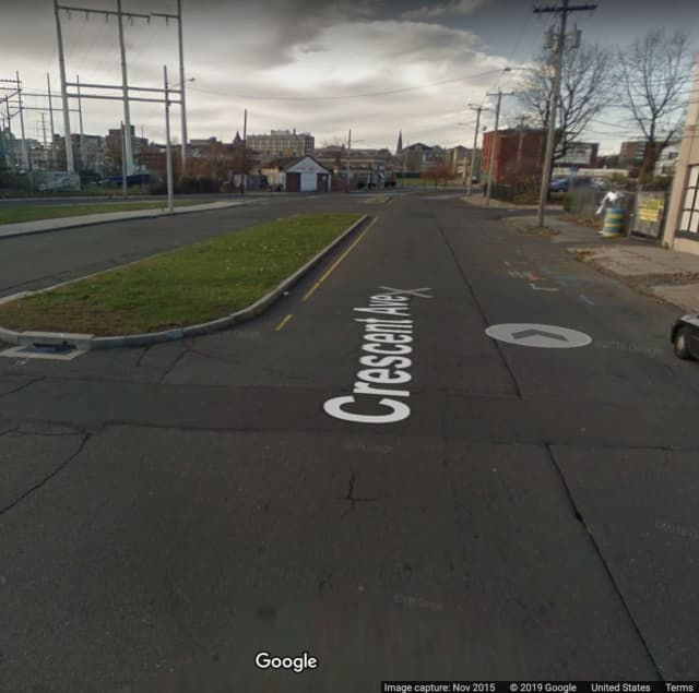 The area of Crescent Avenue in Bridgeport where the shooting happened.