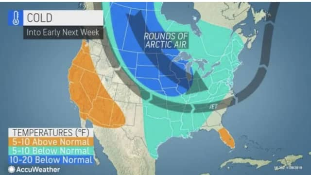 A look at the cold weather pattern that will result in below-average temperatures.