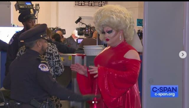 Pissi Myles, an Asbury Park drag queen, stole the show at the impeachment hearings in Washington.