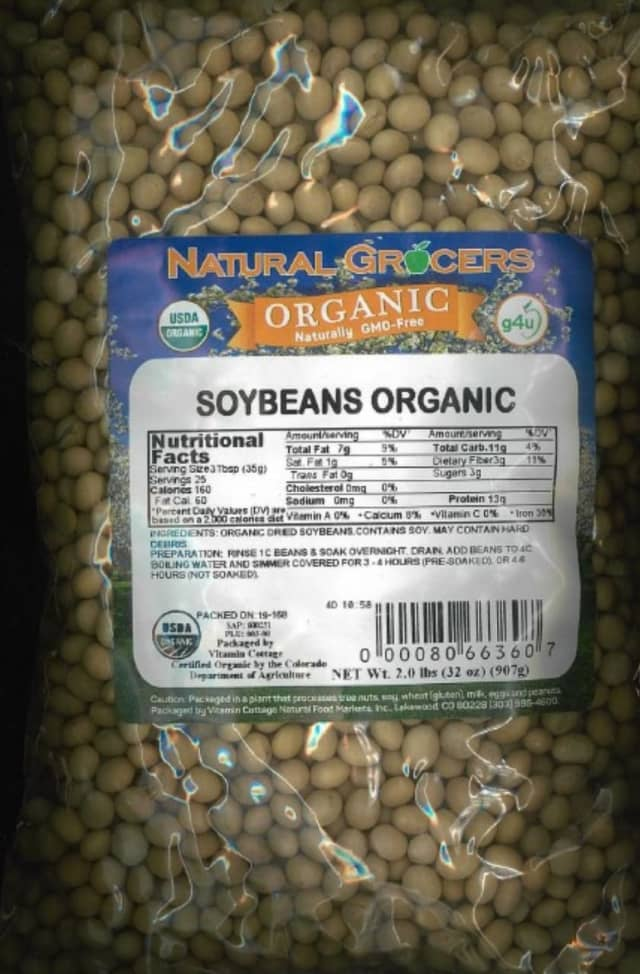 A soybean product has been recalled due to the potential presence of mold.