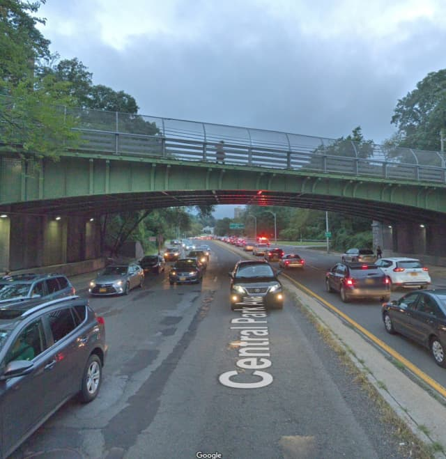 Central Park Avenue near Palmer Road in Yonkers.