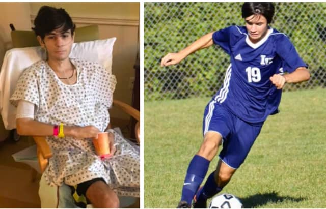 Antonio Iapicca, 15, was kneed so hard in the abdomen during an Indian Hills High School soccer game that he suffered a severed pancreas. He's been in the hospital since the Sept. 19 game.