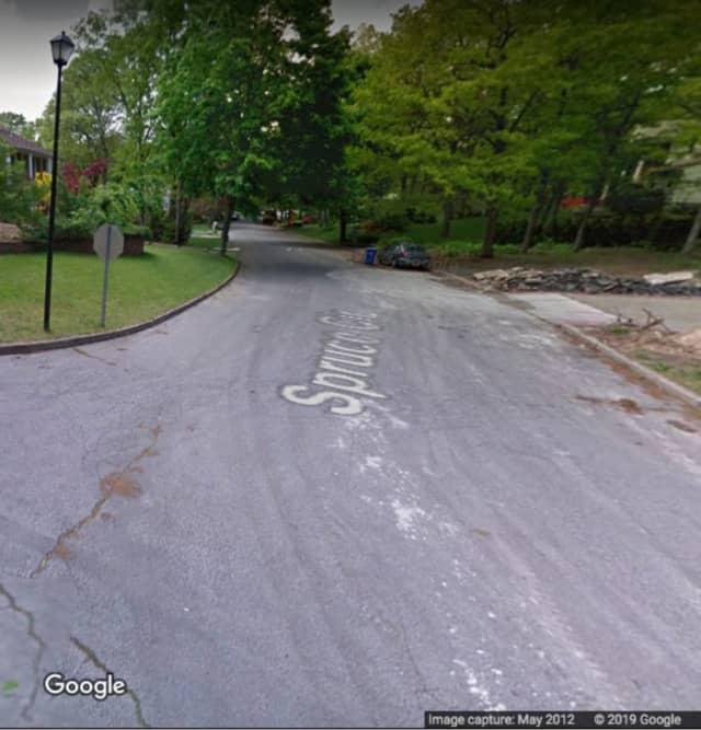 Spruce Circle in Farmingville.
