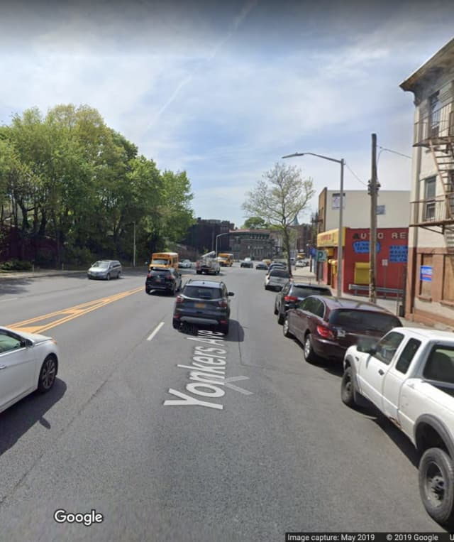 A look at the area of Yonkers Avenue where the incident occurred.