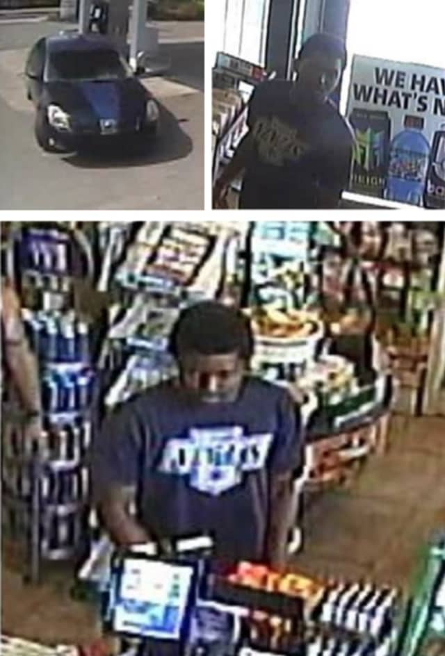Police are on the lookout for a man suspected of using a stolen credit card at Speedway in Southampton (816 Old County Road) on Saturday, June 22 around 8:10 p.m.