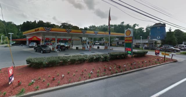Shell gas station on Crompond Road in Yorktown.