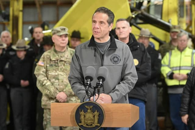 Governor Andrew Cuomo announces a state of emergency.